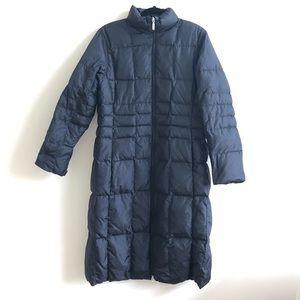 Lands end revisersible black down winter jacket